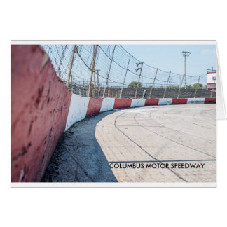 COLUMBUS MOTOR SPEEDWAY CARD