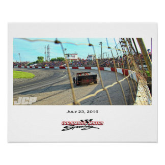 Columbus Motor Speedway Front Stretch landscape Poster