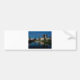 Columbus Night Skyline Bumper Sticker