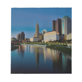 Columbus Night Skyline Notepad