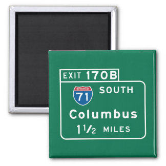 Columbus, OH Road Sign Magnet