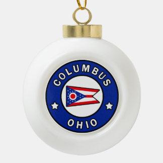 Columbus Ohio Ceramic Ball Christmas Ornament