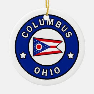Columbus Ohio Ceramic Ornament