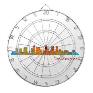 Columbus Ohio, City Skyline, v1 Dartboard