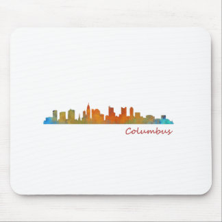 Columbus Ohio, City Skyline, v1 Mouse Pad