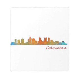 Columbus Ohio, City Skyline, v1 Notepad