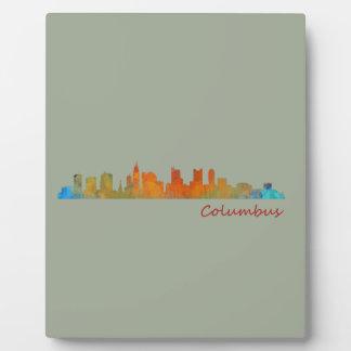 Columbus Ohio, City Skyline, v1 Plaque