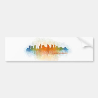 Columbus Ohio, City Skyline, v3 Bumper Sticker