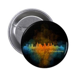 Columbus Ohio, City Skyline, v4 6 Cm Round Badge