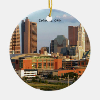 Columbus, Ohio cityscape Ceramic Ornament