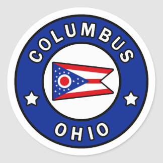 Columbus Ohio Classic Round Sticker