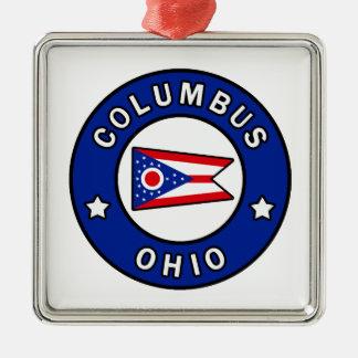 Columbus Ohio Metal Ornament