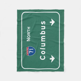 Columbus Ohio oh Interstate Highway Freeway Road : Fleece Blanket