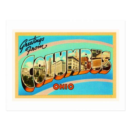 Columbus Ohio OH Old Vintage Travel Souvenir Postcard