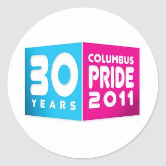Columbus Ohio Pride 2011 Classic Round Sticker