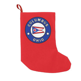 Columbus Ohio Small Christmas Stocking