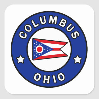 Columbus Ohio Square Sticker