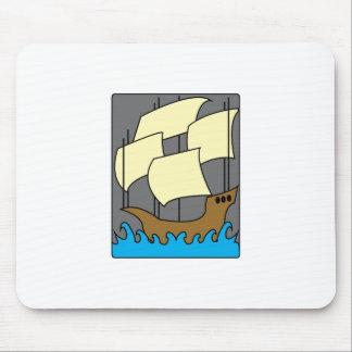 Columbus Ship Mouse Pads