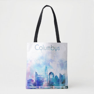 Columbus Skyline Art, US Cityscape Tote Bag