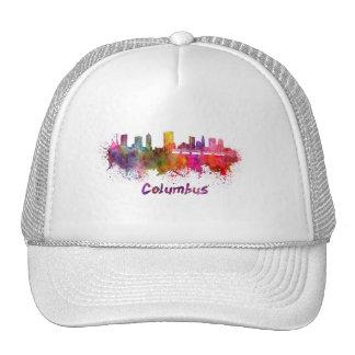Columbus skyline in watercolor cap