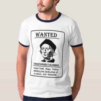 Columbus Wanted Tshirt