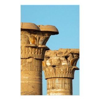 Column Capitals, Medinet Habu, Egypt Stationery Design