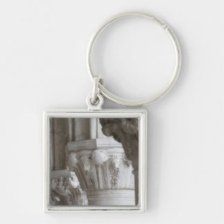 Column detail of the Doges' Palace Venice Italy Silver-Colored Square Key Ring