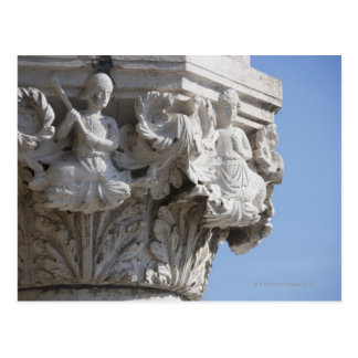 Column detail on the Doges' Palace Venice Italy Postcard