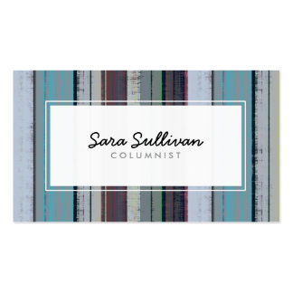 Columnist Retro Stripe Pattern Publishing Pack Of Standard Business Cards