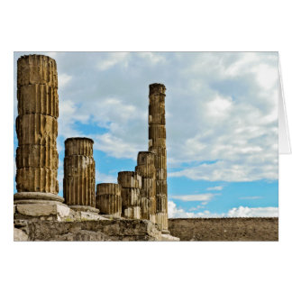 Columns at Pompeii - Blank Greeting Card