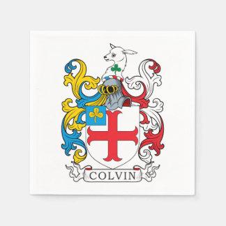 Colvin Family Crest Disposable Serviettes