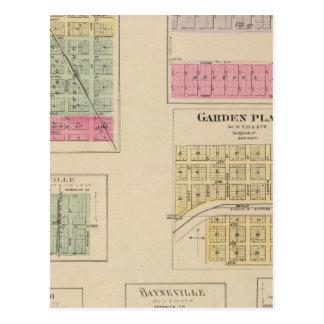 Colwich, Garden Plains, and Bayneville, Kansas Postcard