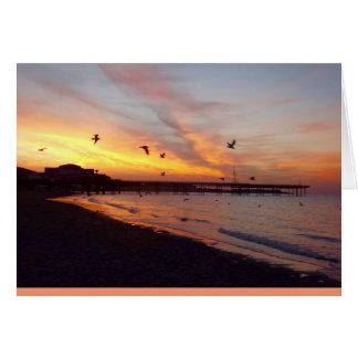 Colwyn Bay Sunset Card