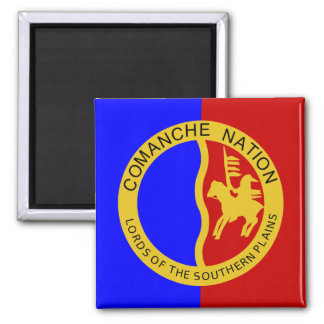 Comaanche Nation Flag Square Magnet