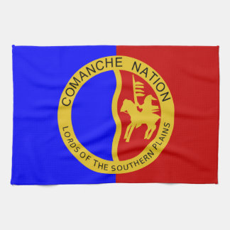 Comaanche Nation Flag Tea Towel