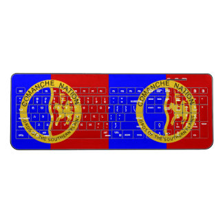 Comaanche Nation Flag Wireless Keyboard