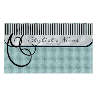 Comb and Curls Mint Green Business Card