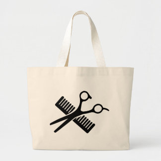 Comb & Scissors Canvas Bag