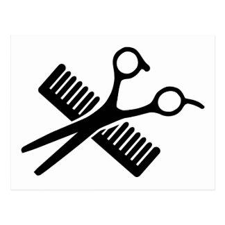 Comb & Scissors Post Card
