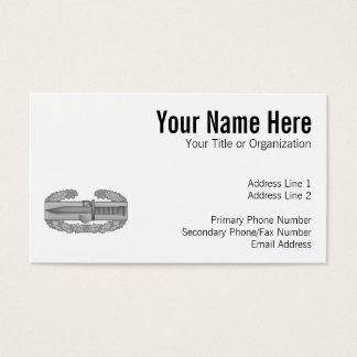 Combat Action Badge Business Card