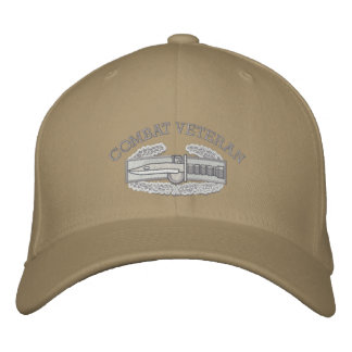 Combat Action Badge, Iraq & Afghanistan Ribbon Hat Embroidered Hats