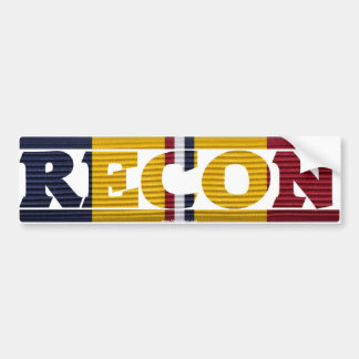 Combat Action Ribbon RECON Bumper Sticker