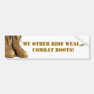 combat boots bumper sticker