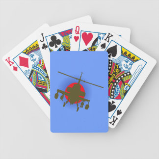 Combat helicopter fighting more helicopter bicycle playing cards