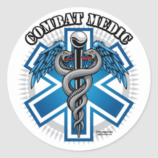 Combat Medic Round Sticker