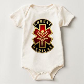Combat Medical Skull & Swords Cross Patch Baby Creeper