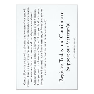 Combat Poetry Awareness Card