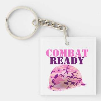 Combat Ready Pink Camouflage Helmet Key Ring
