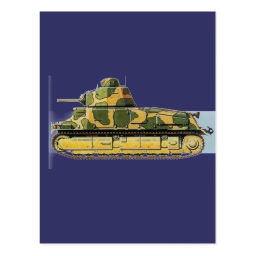 Combat Tank Postcards