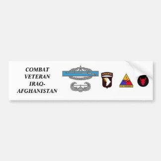 CombatInfBadge2Awd, aab, 1ad, 1mkl, 34ID, COMBA... Bumper Sticker